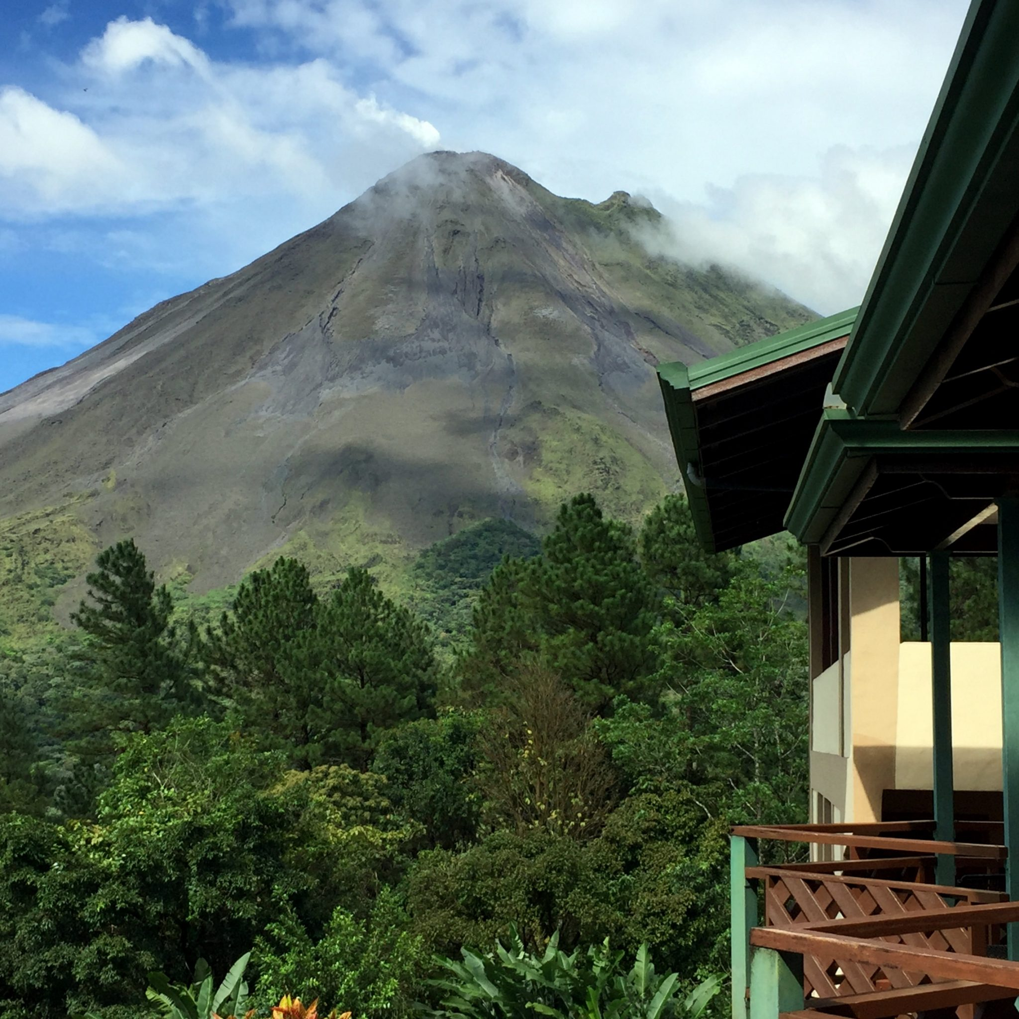 Volcano's don't get closer than this. Stay at the Arenal Observatory Lodge is bound to impress.