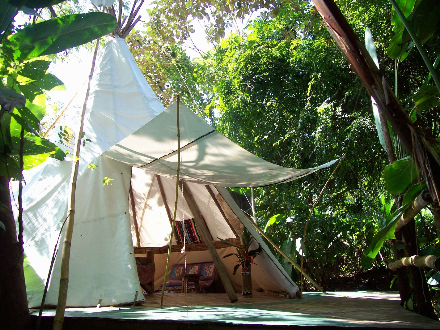 A night in a jungle teepee - a childhood dream come true.