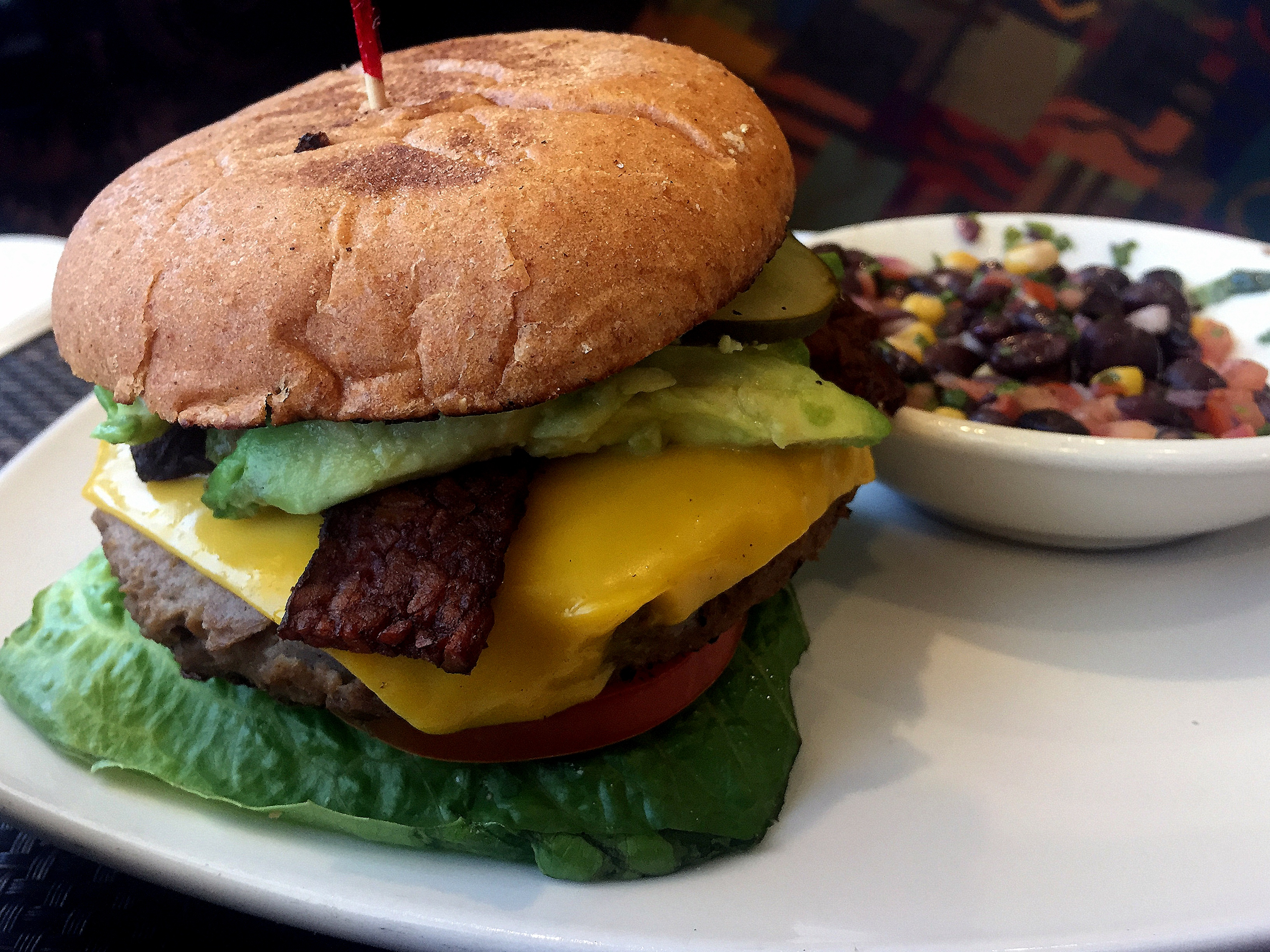 Violette's 'cheeseburger'. Vegas is slowly undergoing a plant based revolution