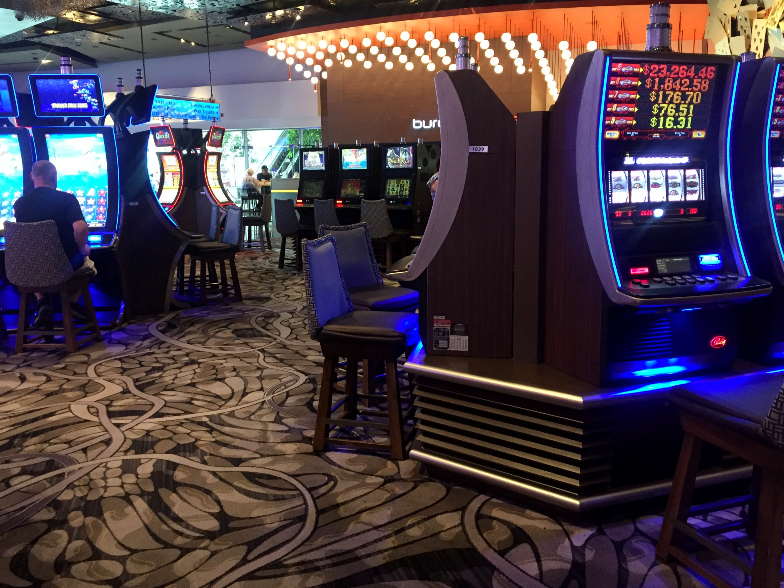Slot machines at Aria casino double as air conditioning units.