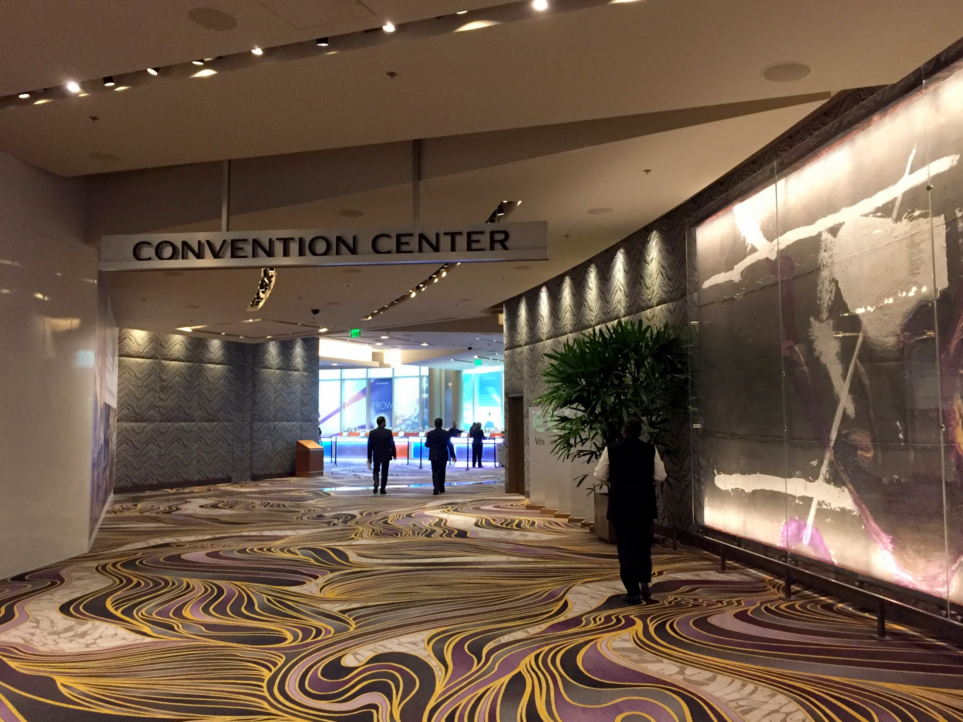 Eco friendly Aria Convention Center uses recycled paper and upcycled staff uniforms.