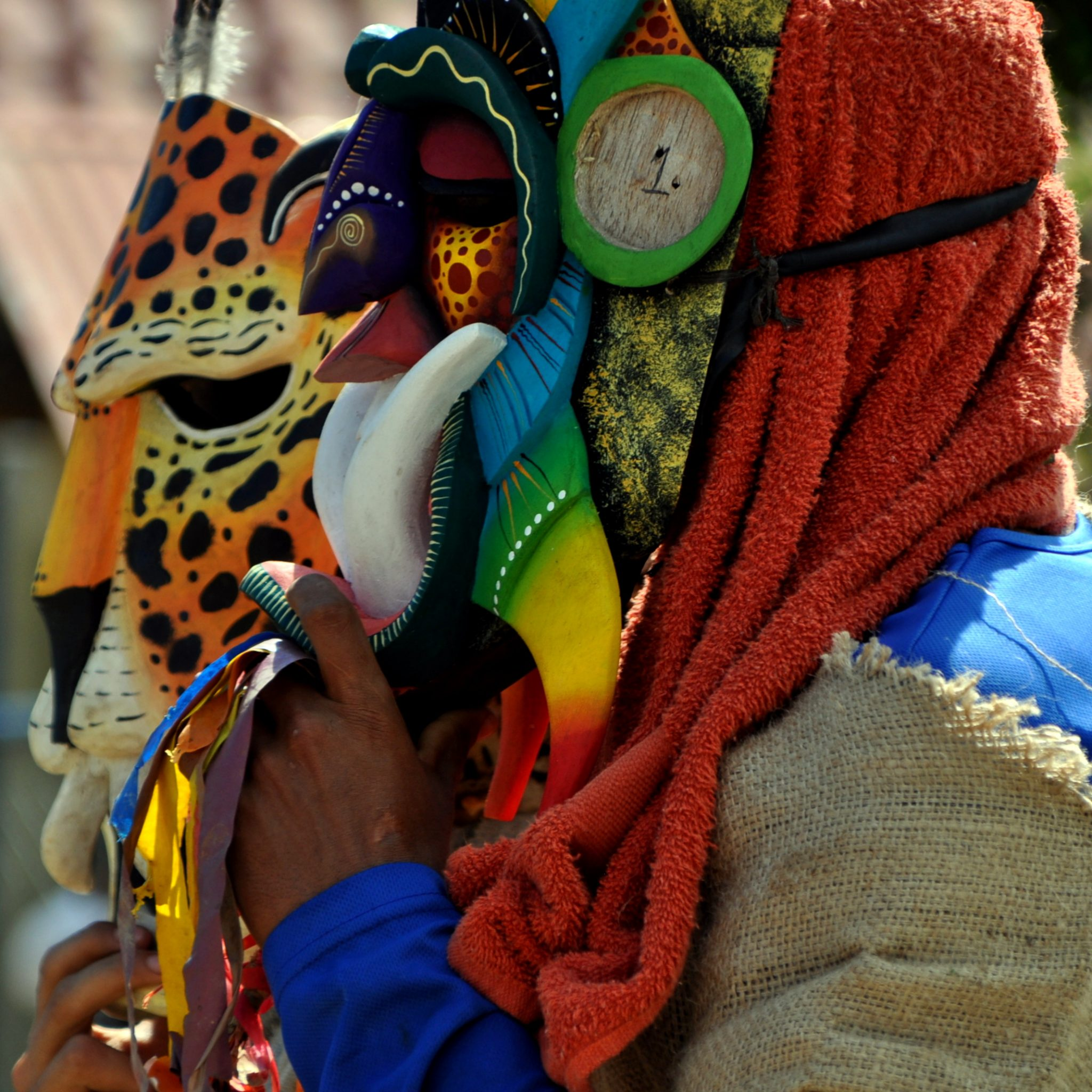 Traditional Brunka masks helped protect them from the Spanish invaders.