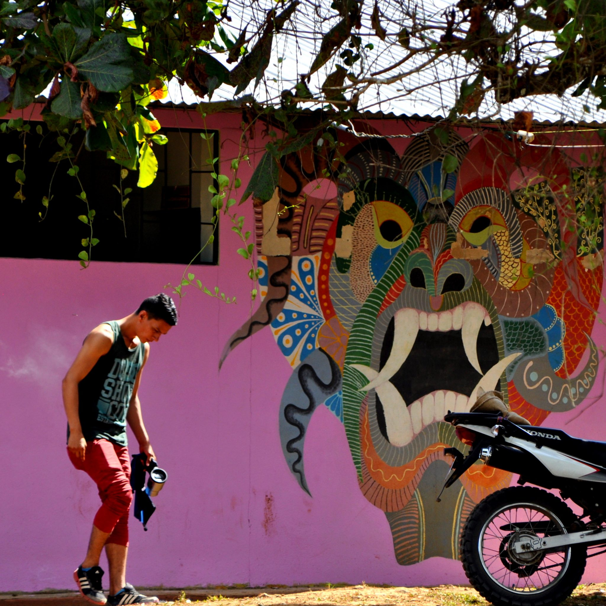 The village stays colorful beyond the fiestas.