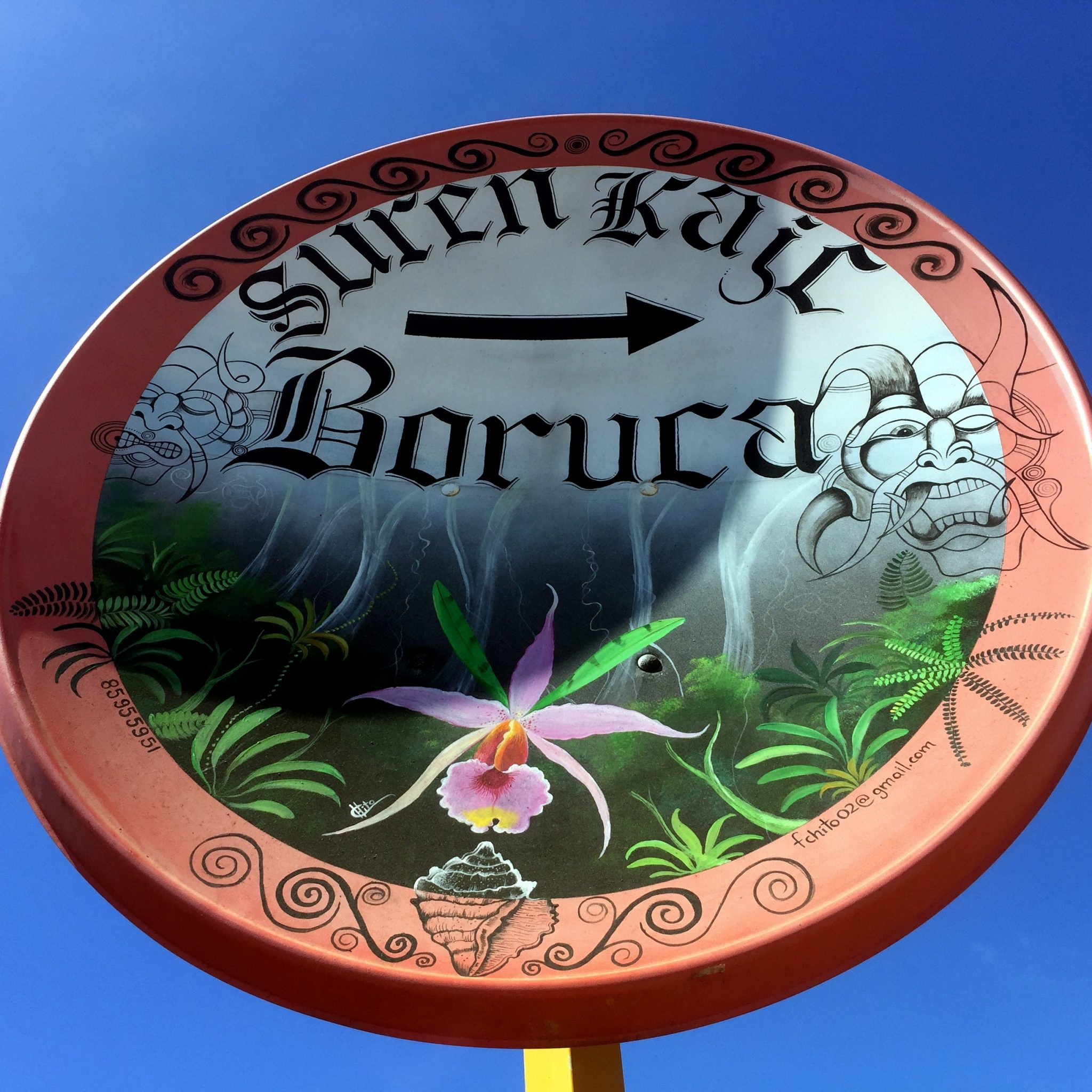 The road can be treacherous but the art of Boruca offers a warm welcome well before you reach the village.