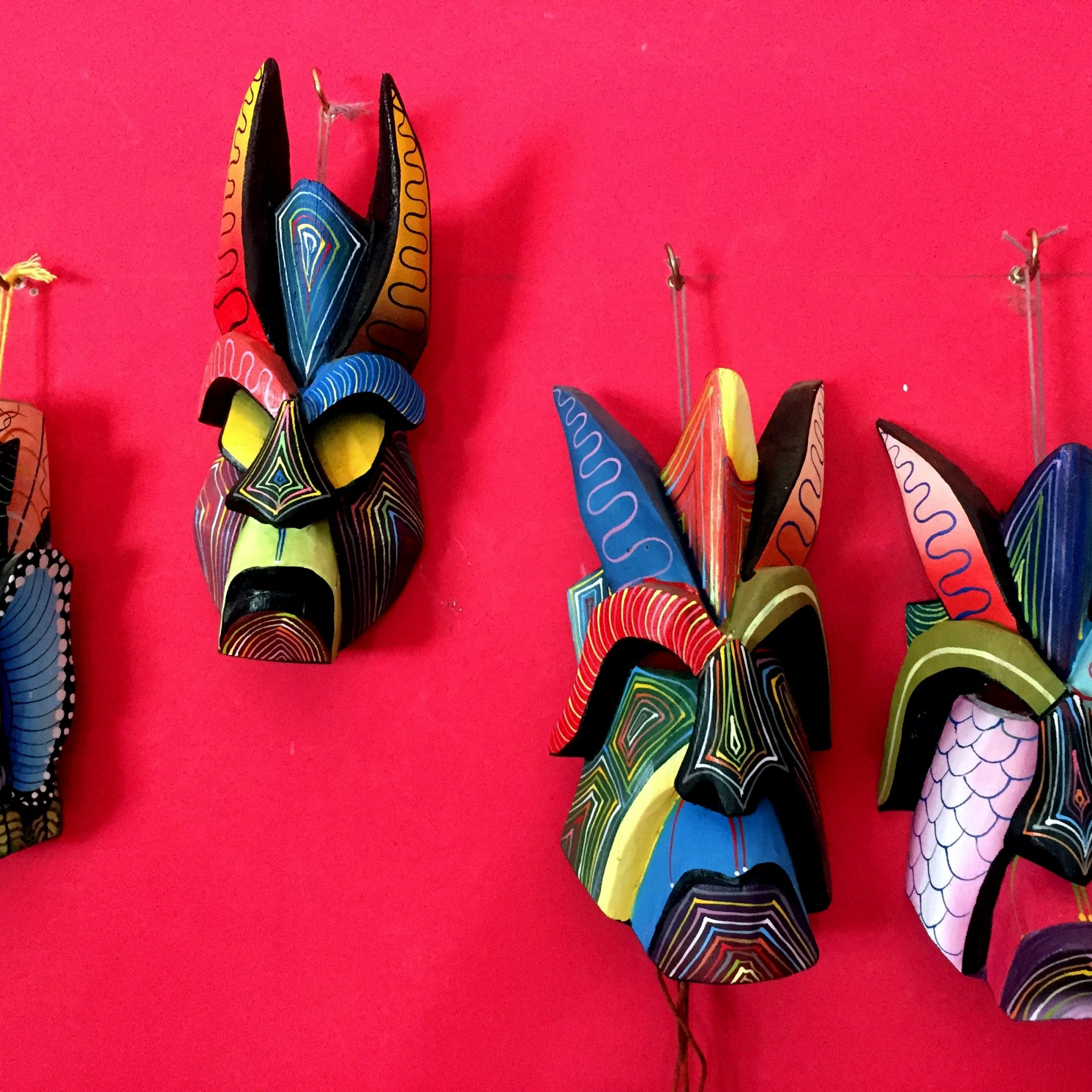 Boruca masks are a symbol of glory and stunning decorative art pieces.