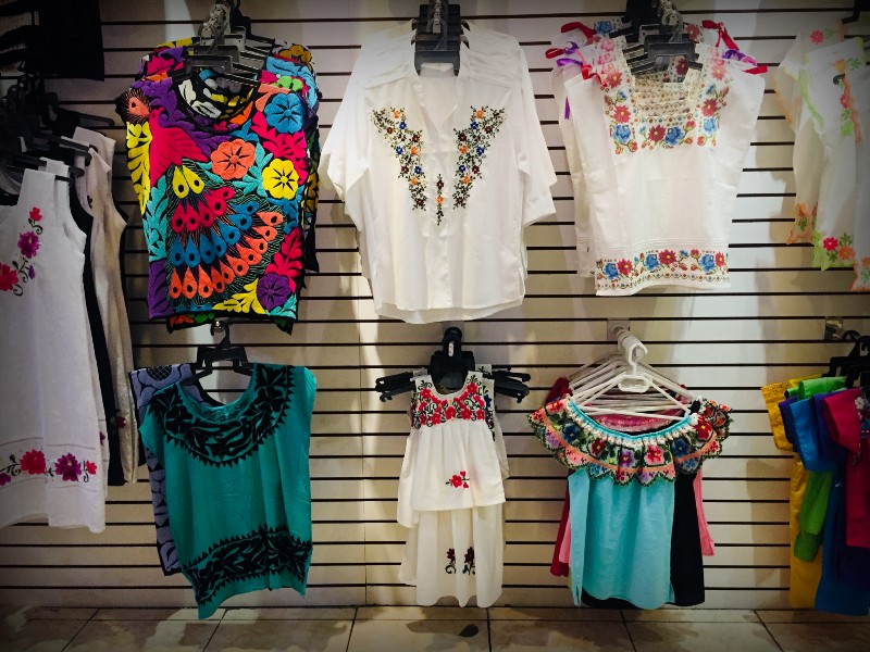 Embroideries of the hipiles—dresses or tunics worn by the women of the region- traditionally convey some sort of meaning within the local community.