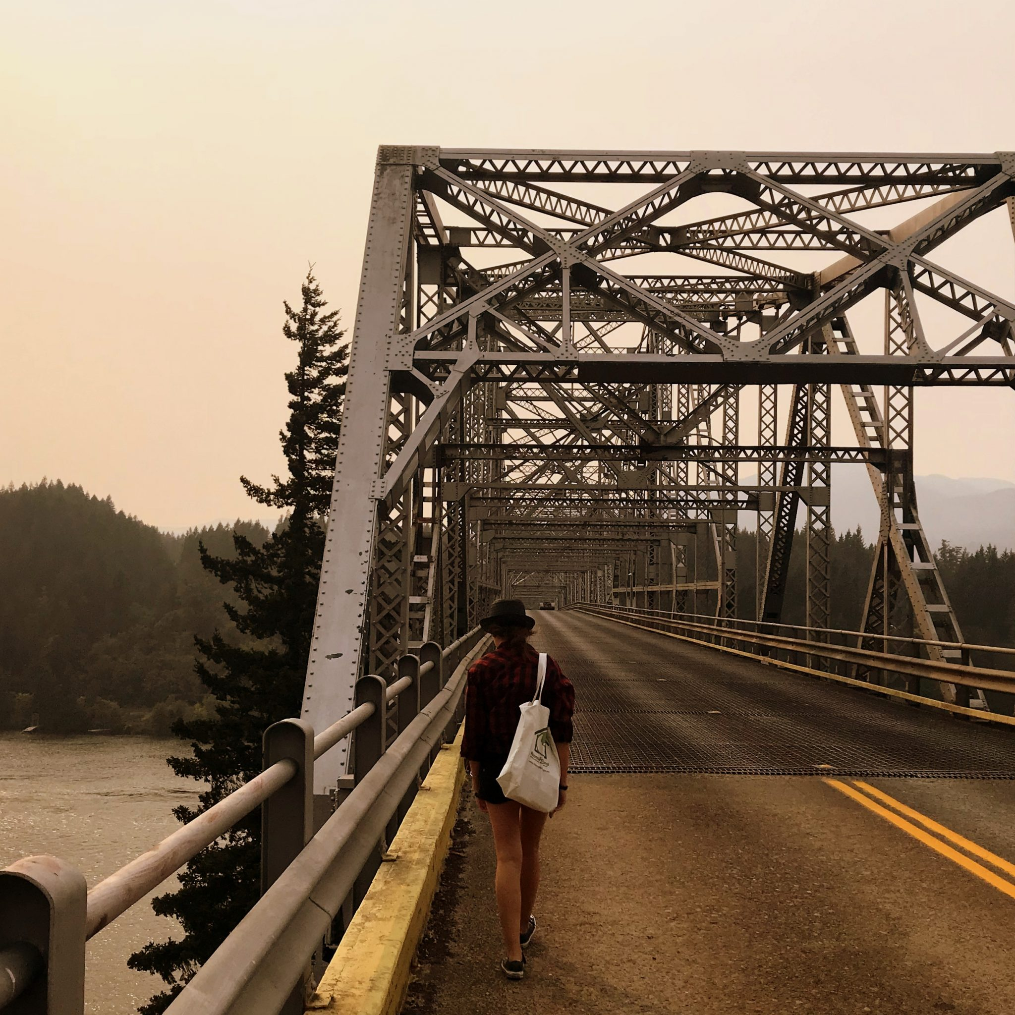 Walk (or drive) across the Bridge of the Gods to set foot in the state of Washington.