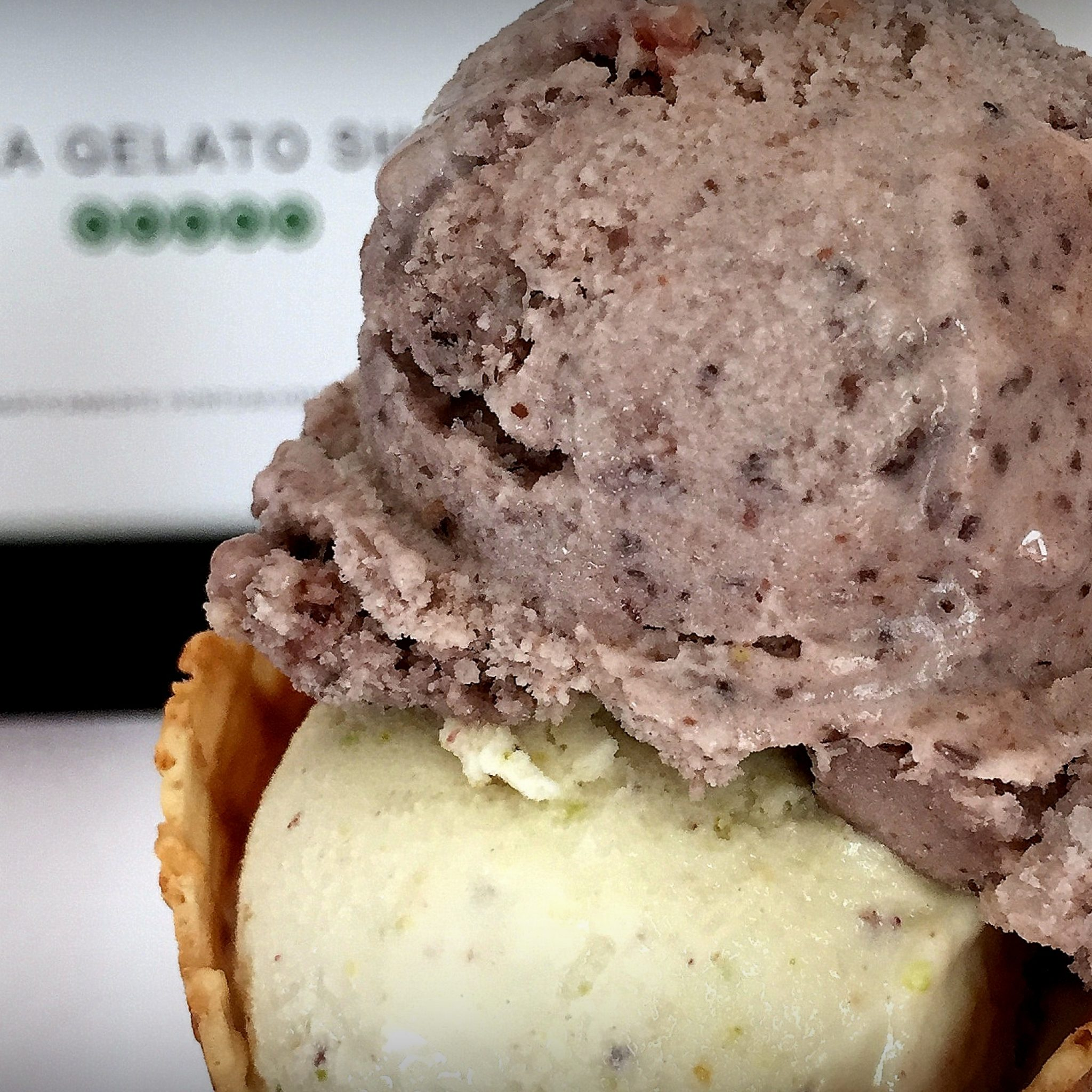 Frijol con puerco—a flavour so typical of the area it made its way into gelato.
