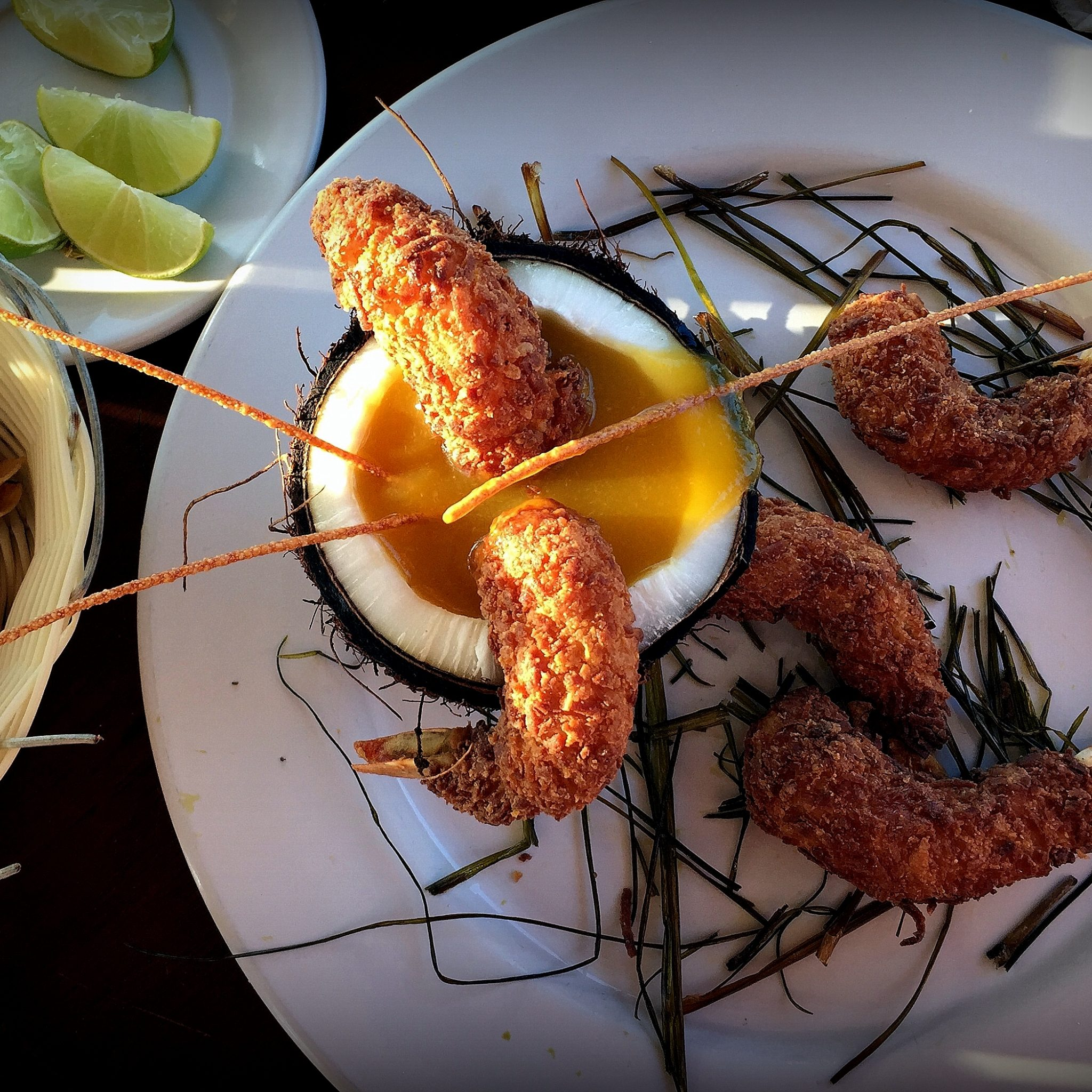 Don't leave without trying the coconut & mango shrimp at one of the palapa restaurants on the beach.