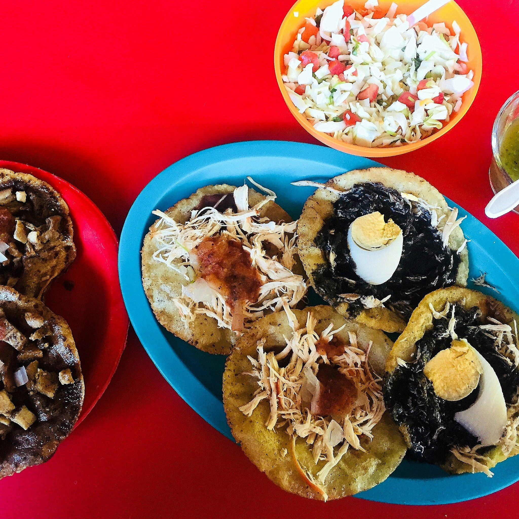 Salbutes and panuchos abound in yucatecan homes and bars, starting at breakfast.