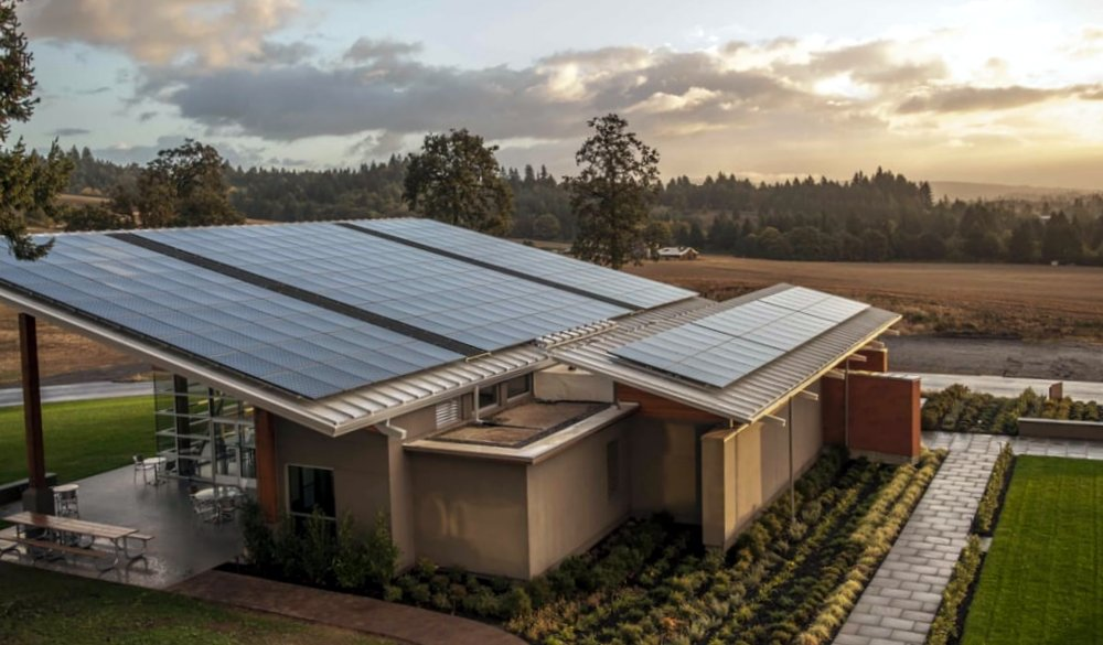 Stoller Estate was the first Northwest winery to produce solar energy. Image: Stoller Estate.