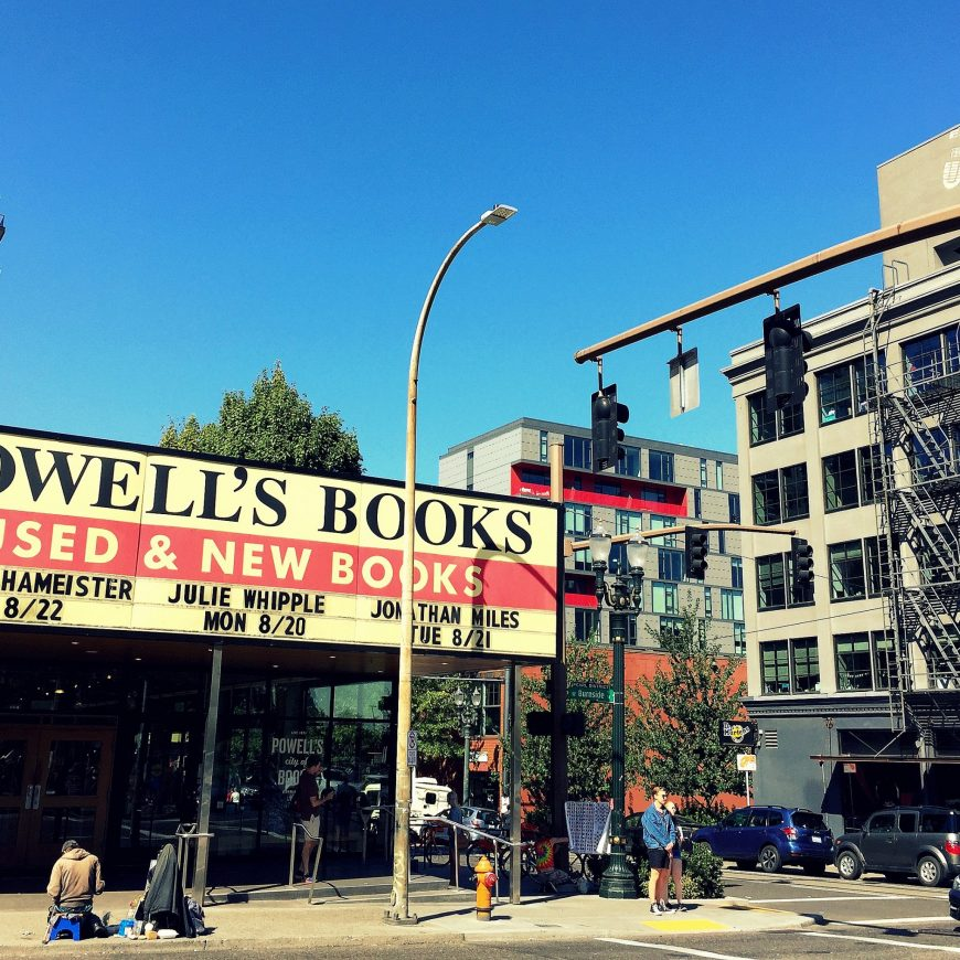 Powell's City of Books is the largest used & new bookstore in the USA and well worth a visit, not just for book lovers.